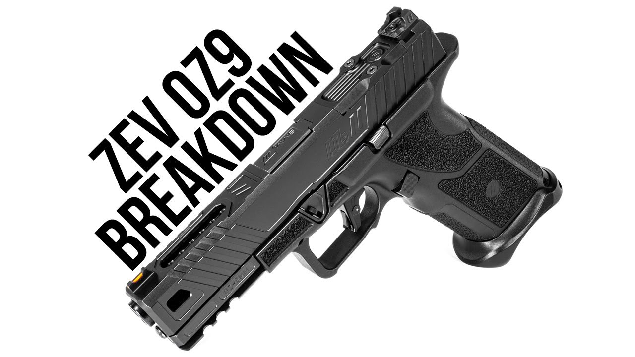 OZ9 Pistol (9mm) Black Barrel and Slide | ZEV Tech