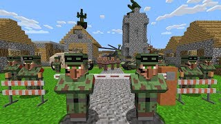 Minecraft Battle - NOOB vs PRO : WHAT MILITARY HIDE IN THIS VILLAGE? (Animation)