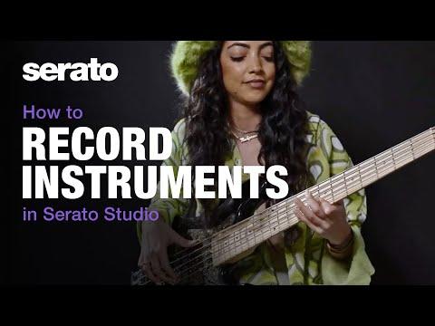 How to record instruments in Serato Studio