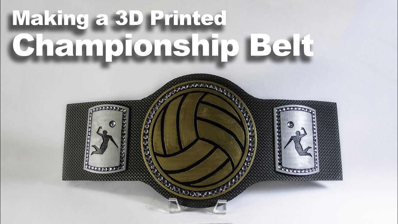 How to Make a 3D Printed Championship Belt - DIY Tutorial ...