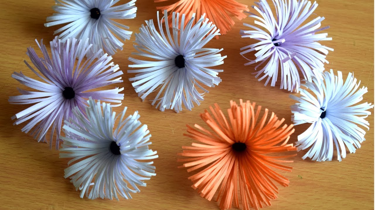 How To Make Flower With Paper Paper Flower Diy Youtube