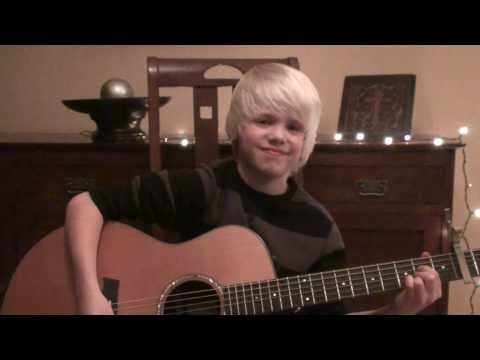 Justin Bieber - Pray Acoustic Cover By 9 Yr. Old Carson Lueders