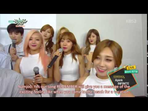 [Engsub] APink & Infinite Comeback Waiting Room Interview