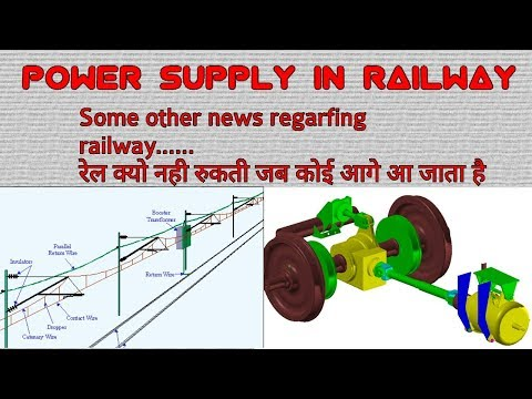 How to genrate electricity in train , power supply in railway