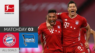 Unstoppable Lewandowski! FC Bayern - Hertha Berlin | 4-3 | All Goals | Matchday 3 – Bundesliga 20/21