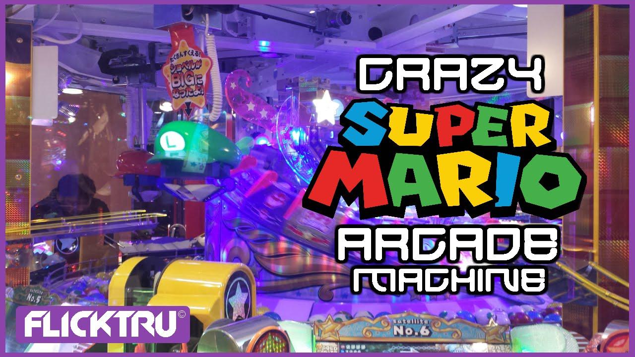 Let's Play! Crazy Super Mario Arcade Gambling Machine! | Osaka Japan 2016