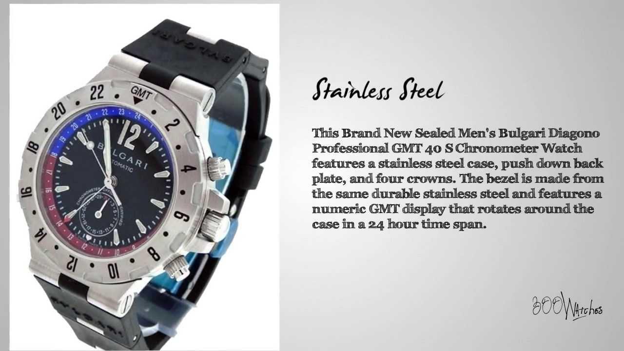 e07125b471f Bulgari Diagono Professional GMT 40 S Chronometer Watch by Midtown Watch