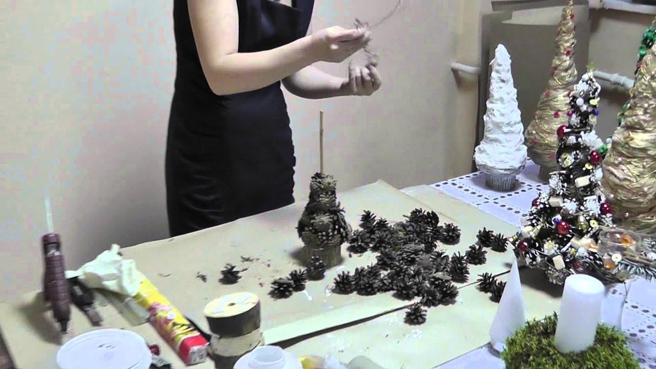 Как сделать елочку из шишек фото 715