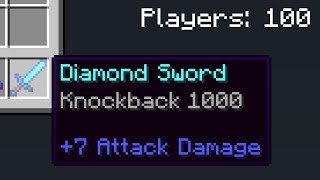 I Gave Everyone Knockback 1000 in Minecraft UHC...