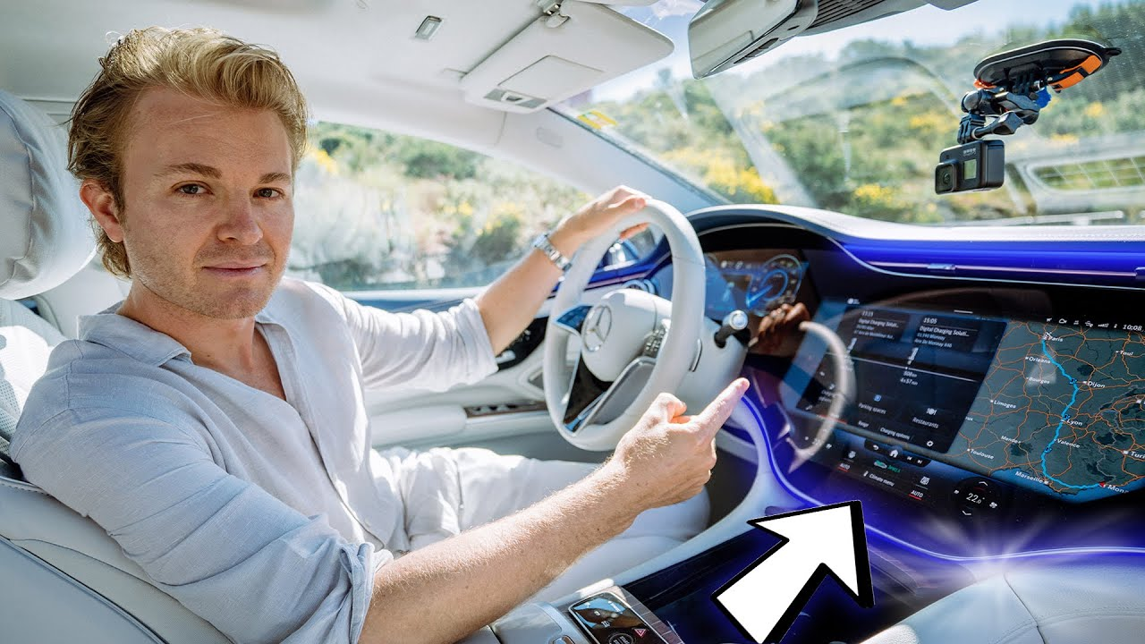 The Most Luxurious Electric Car in Monaco! New Mercedes EQS | Nico Rosberg