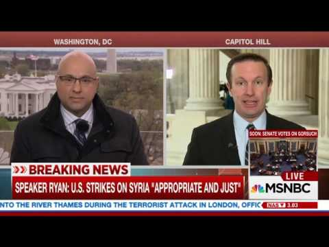 Senator Murphy Discusses Syrian Airstrikes on MSNBC