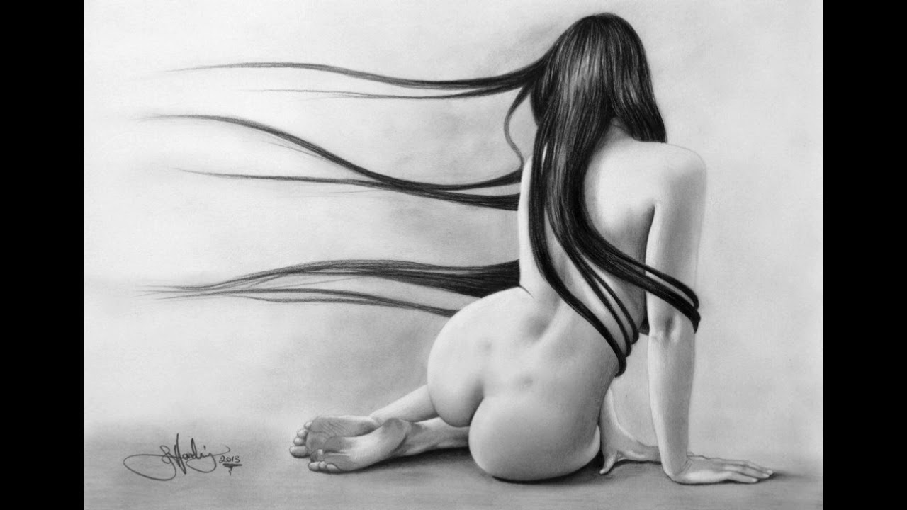 Art nude drawing — 2