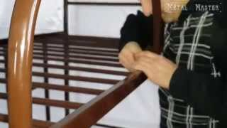 видео Металлическая двухъярусная кровать Гранада