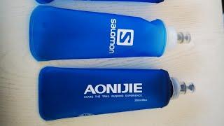 Salomon Soft Flask vs. Triwonder Aonijie Softflasche - kleiner Vergleich