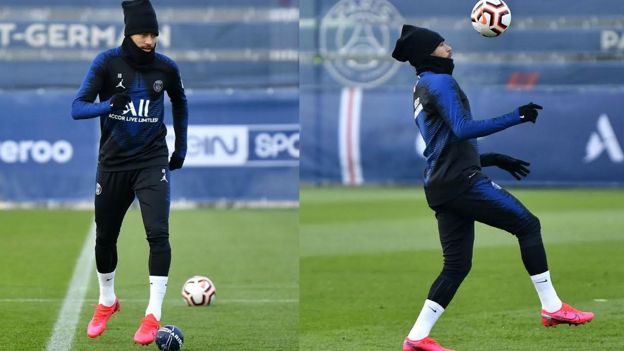 Neymar Jr. at training session | PSG Training Session Live | PSG vs Lille 2020