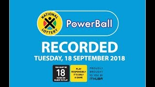 PowerBall Live Draw - 18 September 2018