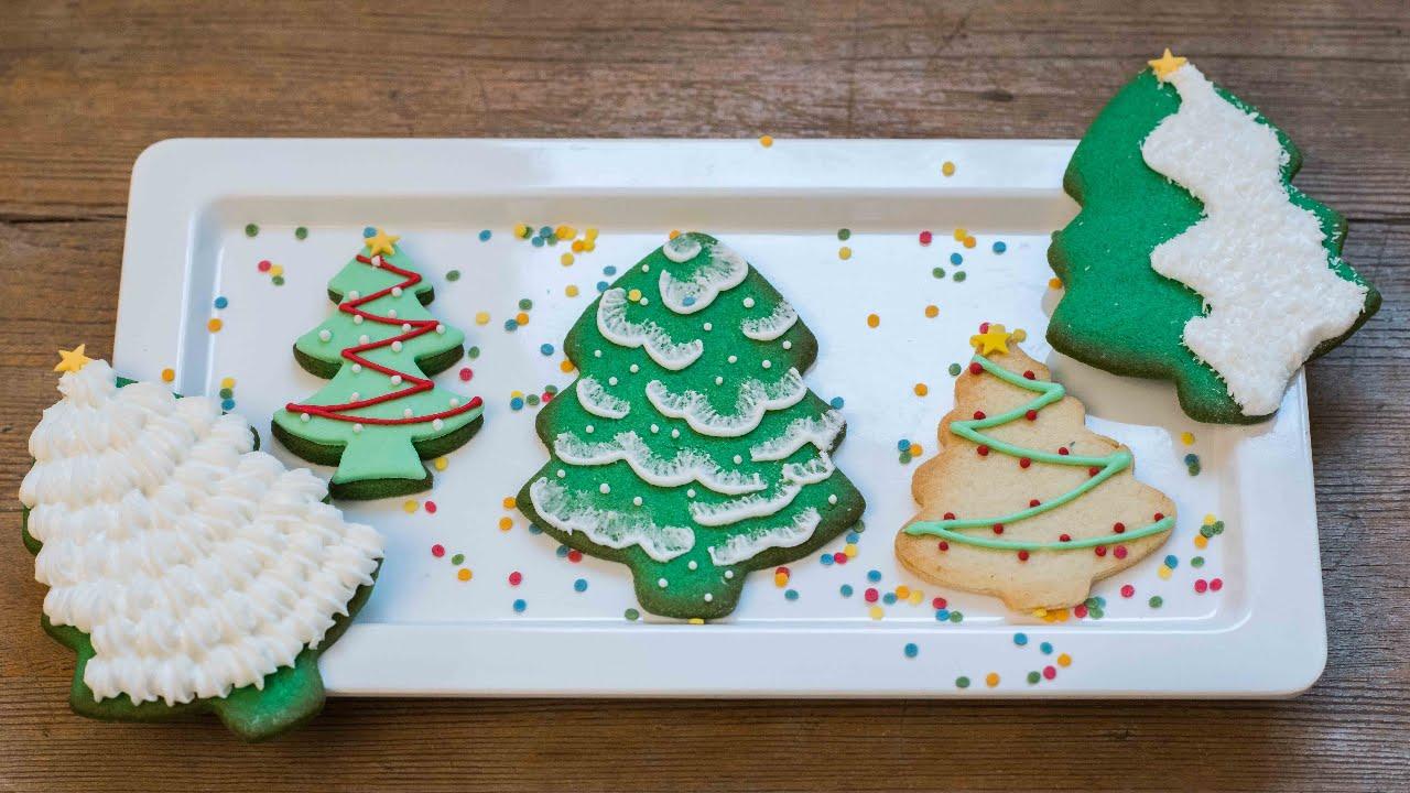 Die schönsten Weihnachtsplätzchen / 5 verschiedene Weihnachtsbäume ...