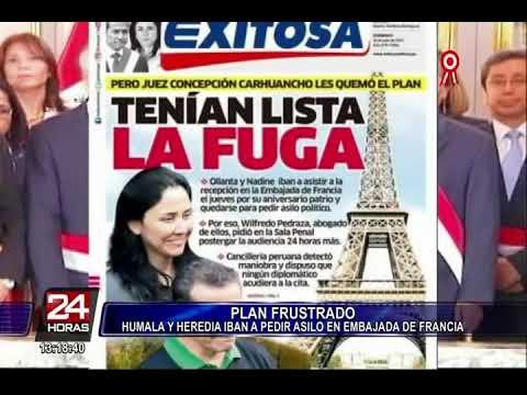Expareja presidencial iba a solicitar asilo en embajada de Francia