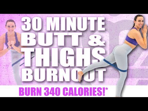 30 Minute BUTT AND THIGHS WORKOUT WITH MINI BANDS! 🔥BURN 340 CALORIES!* 🔥with Sydney Cummings