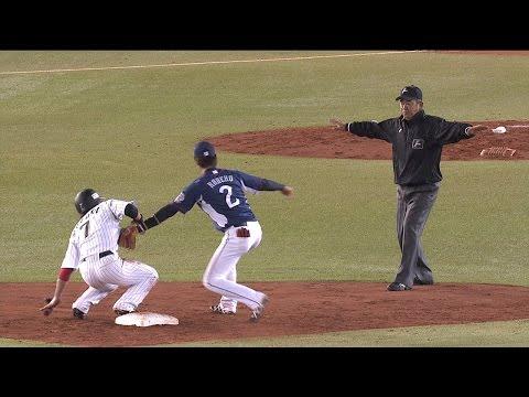 【プロ野球パ】鈴木大地が「野球知ってるね~」な 好走塁 2015/04/30 M-L