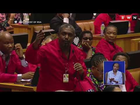 EFF walks out of presidential election in Parliament