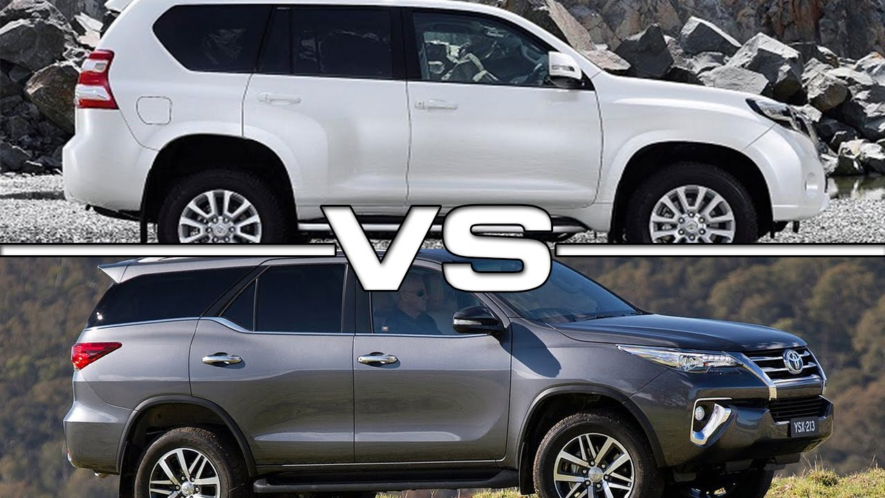 2016 toyota land cruiser prado vs 2016 toyota fortuner