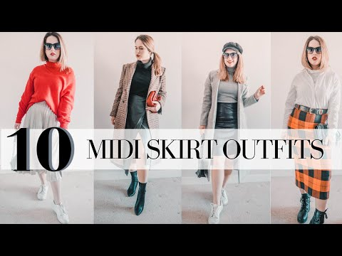 How To Wear A Midi Skirt In Winter | 2019 Midi Skirt Outfit Ideas For Cold Weather
