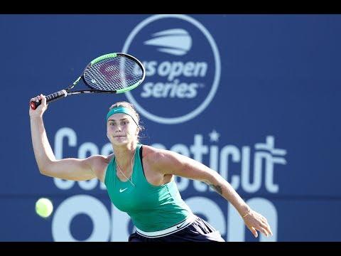 Aryna Sabalenka vs. Belinda Bencic | 2018 Connecticut Open Quarterfinals | WTA Highlights