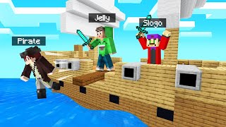 We STOLE a PIRATE SHIP in MINECRAFT! (Funny)