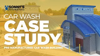 Pre-Manufactured Express Exterior Car Wash Building Case Study Overview