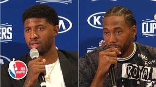 Kawhi and Paul George explain signing with Clippers, give health updates | NBA Press Conference