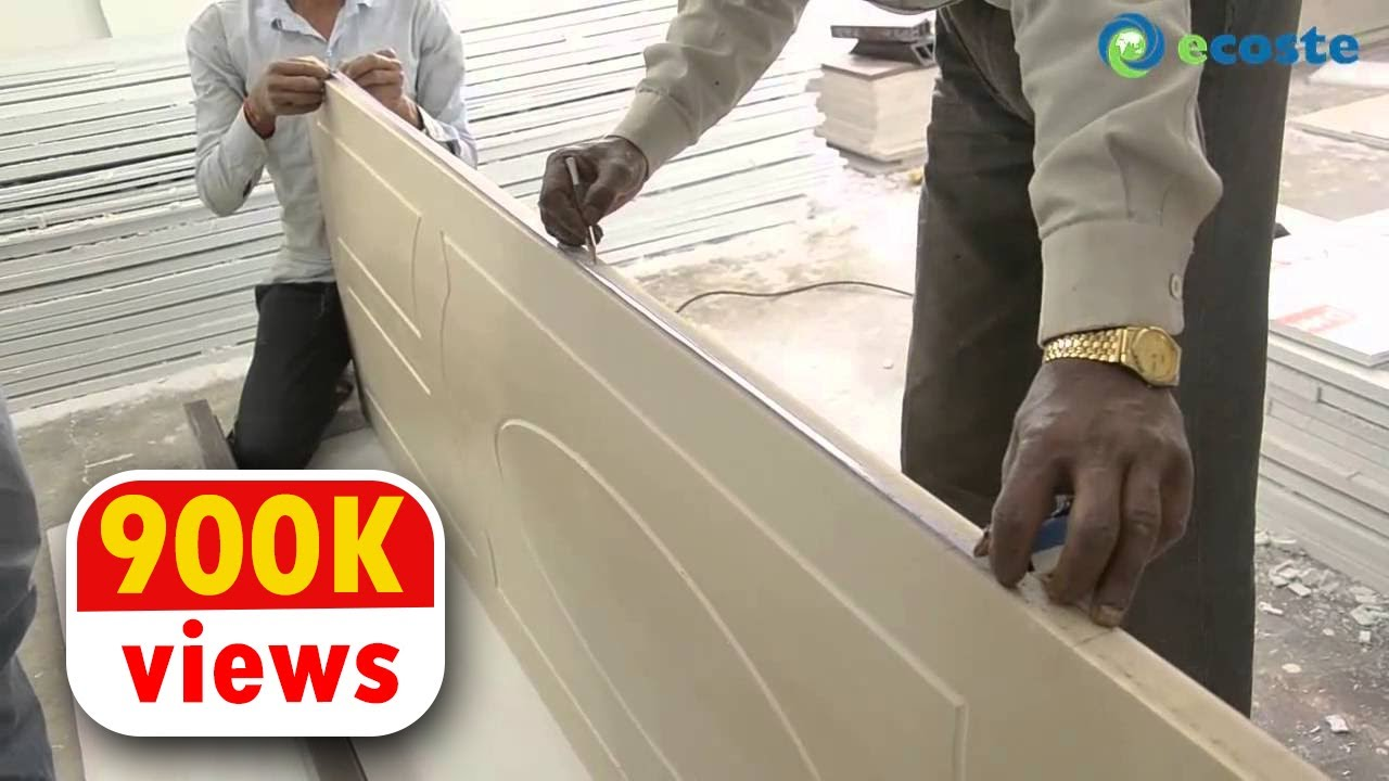 ECOSTE PVC Door U0026 Door Frame Installation | A Complete Substitute To Wood  !!   YouTube