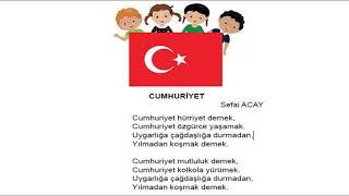 3.Sınıf Müzik Dersi, Cumhuriyet Hürriyet Demek Şarkısı
