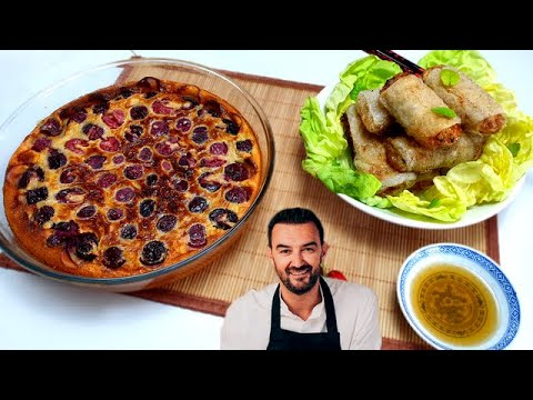 tous-en-cuisine-#54---je-teste-le-clafoutis-aux-cerises-et-les-nems-au-poulet-de-cyril-lignac-!