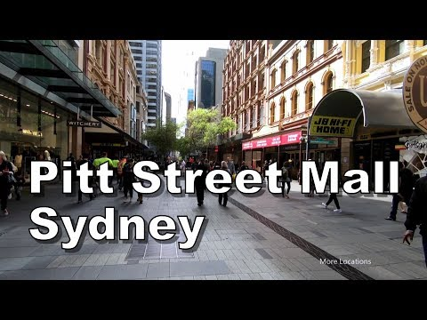 Pitt Street Mall - Sydney Australia - Walking Tour