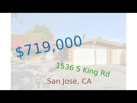 $719,000 San Jose home for sale on 2020-11-17 (1536 S King Rd, CA, 95122)