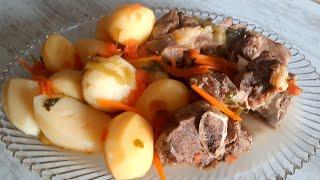 Вот Что Нужно Готовить  на Обед Чтобы Вся Семья Была Довольна!!! Мясо и Картошка.(Beef and Potatoes)