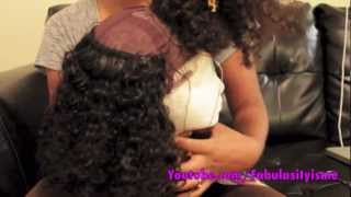 Making My Kinky Curly Wig With My Glueless Wig Cap