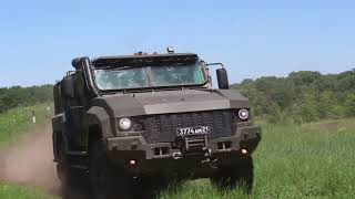 Поступление новых бронеавтомобилей «Тайфун» и «Тайфун-К» в спецназ Южного военного округа на Кубани
