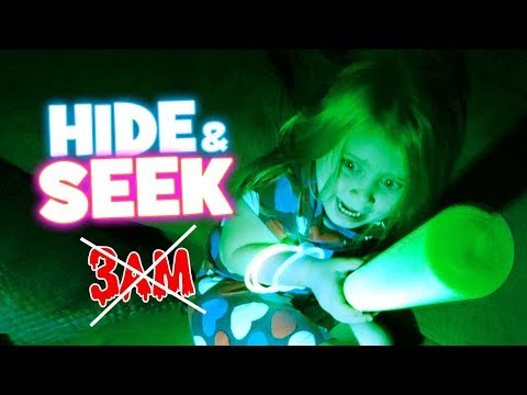 Hide and Seek GLOW Edition! Parent vs KID! NOT @ 3AM NO EVIL Chuck E Cheese! by KIDCITY
