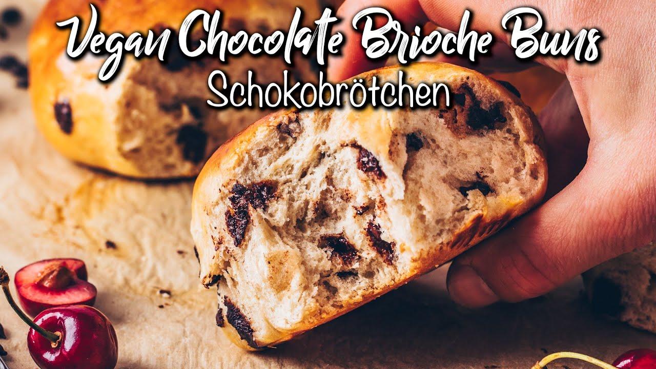 Die BESTEN Schokobrötchen ♡ Vegan ♡ Fluffig weiche Brioche-Brötchen ohne Eier und Milchprodukte!