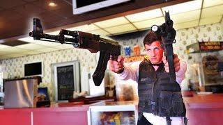 Movie theater gun game