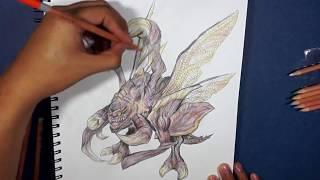 zergling Drawing Starcraft 2 design
