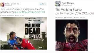 """Twitter a une dent contre Suarez """"le Cannibale"""""""