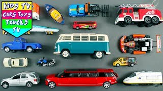 Learn Street Vehicles | Car Cartoons | Emergency Vehicle Names For Kids | Police Car Cartoons