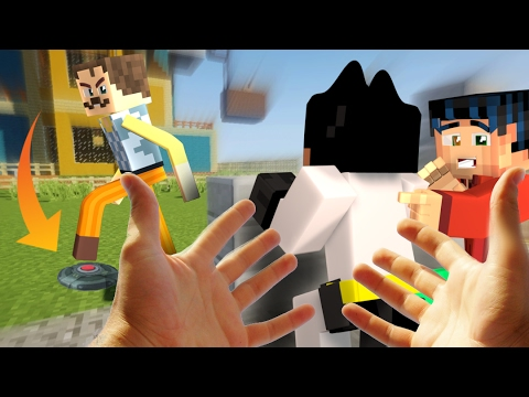 Realistic Minecraft Hello Neighbor - Killing the Neighbor with LAND MINES