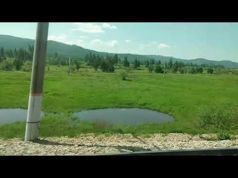 Из поезда, взгляд в окно