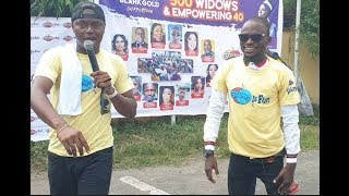 Fine Man Jigan Storms the event with 'Sho mo age' skit as he thrills 500 widows.