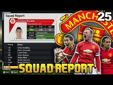 FIFA 15 - MAN UTD CAREER MODE - S3 #25 END OF SEASON SQUAD