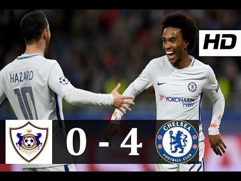 Download Qarabag vs Chelsea 0-4 | All Goals & Highlights | UCL 22/11/2017 HD
